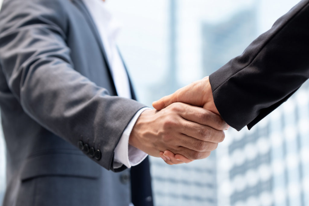 family office partner shaking hands stableford capital